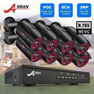 نظام ANRAN 3MP فيديو كاميرا مراقبة كيت فيديو مراقبة في الهواء الطلق CCTV الأمن كاميرا CCTV كيت نظام NVR مجموعة 8CH