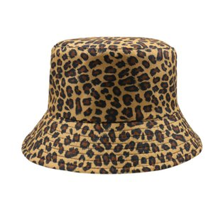 Женщины Foxmother Рыбалка Браун Caps 2019 Animal Leopard Print Factory Fisherman Bucket Прямая Шляпы MjFeW buy_home