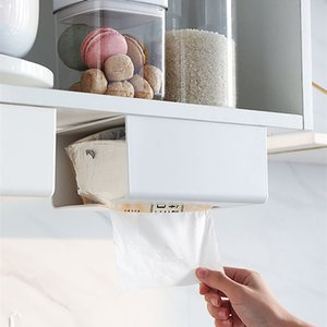 Rectangular Plastic Tissue Napkin Box Hanging Type Toilet Paper Dispenser Case Holder Home Office Decoration