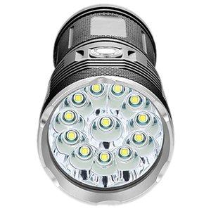 72000Lums Yüksek Güçlü Led T6 Led Meşalesi Flaş Işık Su geçirmez Searchlight Lambası, 12