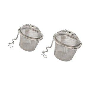 Dia. 4.5cm 6.5cm +, 2pcs práctica bola de té de especias colador de malla infusor filtro de acero inoxidable a base de plantas