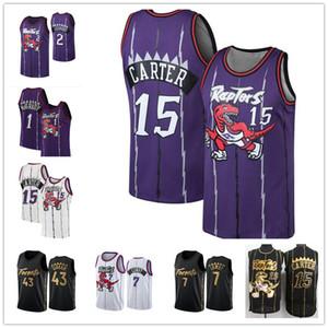 Vintage Vince Carter 15 Pascal 43 Siakam Kawhi 2 Tracy McGrady 1 Leonard Kyle Lowry 7 TorontoRaptorsVanVleet Basketball-Trikots