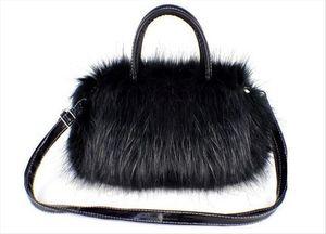 Fashion And Temperament Lady Bag Durable PU Leather Faux Fur Handbag Lightweight Lovely Handbags 100% marke Neue Bags
