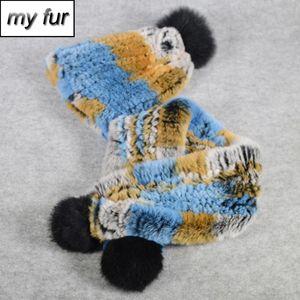 Los nuevos niños de 2 Piezas Establece Real Rex Rex bufanda de la piel del sombrero de piel para el cuello Cap verdadero hijo Gorros Bufandas