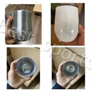 DENİZ NAKLİYE YYA481 100pcs ile Kapak Bira Kupalar ile 12oz Şarap tumblers Blank Sublime Yumurta Kupası Paslanmaz Çelik Vakum Cup Coffee Kupalar