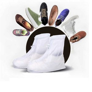 Reusable Waterproof Shoe Covers High-Top Anti-Slip Rain Shoes Cases Unisex Galoshes Travel Outdoor Rainproof Shoes Accessories