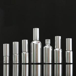 10ml 15ml 20ml 30ml 50ml 100ml Essential Oil Glass Dropper Bottle Gold Silver Emulsion Pump Container Mist Spray Bottle15 pcs
