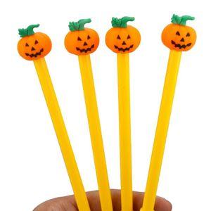 New Halloween Pumpkin Gel Pens 0.5mm Novelty Stationery Kawaii Pen Student Cute Writing Pen LX3296