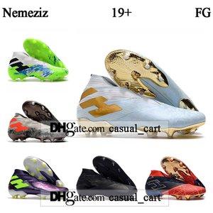 GIFT BAG para hombre de los tops zapatos de fútbol Botas de fútbol Nemeziz 19 + FG Spider-Man Nemeziz Messi 19 FG Tacos de fútbol