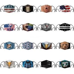 Masque bouche avec des masques Valve visage Mascherines anti-poussière PM 2,5 respiration Earloop En stock 6 98Mh UU 110 #