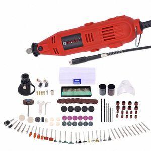 Dremel Stil Electric Drill Power Tool Startseite DIY Mini Graveur Grinder Polierer Power Tools mit 181Pcs Rotary Werkzeuge Zubehör tFIJ #
