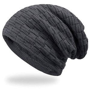 Color sólido punto Hat felpa espesado de punto caliente de la protección auditiva gorro de pareja