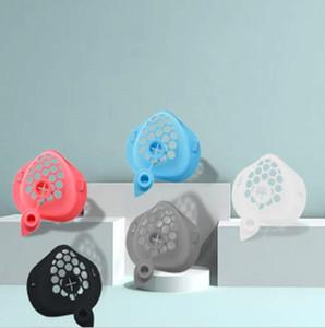 Maske 3D-Mouth-Support Food Grade-Silikon-Maske Bracket Mask Kissenhalter mit Trinkloch Enhancing Atemmasken Zubehör LSK1205