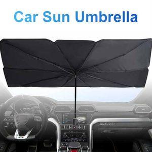 Car Sun Shade Umbrella With High-hardness Steel Foldable Convenient Auto Windshield UV Block Sun Visor Cover Universal