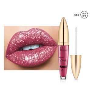 Pudaier New Future Series Glitter Diamond Pearl Liquid Lip Gloss Metallic Shiny Waterproof Lipstick Sexy Cosmetics Lips