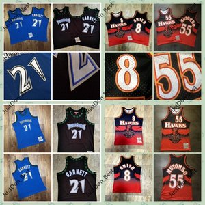 Vintage Mens Steve Smith 8 Dikembe Mutombo 55 Basketball Jersey ricamati Hawks
