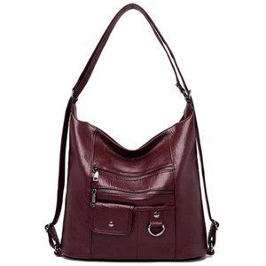 LONOOLISA Многофункциональные Дизайнерские Дамы Большой Tote Сумки Женщины сумки на ремне Мягкая кожа для женщин 2020