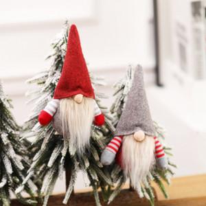 Scandinave Gnome suédoise main de Noël Tomte Père Noël Nisse nordique en peluche Elf Toy Table Ornement Arbre de Noël Décorations