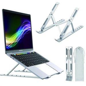 6 níveis Altura Ergonômica Portátil Computer Tablet Montagem dobrável Titular do Notebook Ajustável Suporte para Portáteis de Alumínio