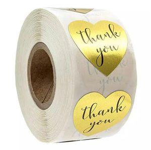 Спасибо наклейка Round Love Heart Этикетка наклейка Пастер Украсьте Поддержка My Small Business Выпечка Фестиваль Подарки Горячая продажа 2 99jr F2