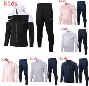 Дети RONALDO куртки DE Ligt 20 21 Тренировочная одежда четвертый Длинные молнии комплект обмундирования 2020 2021 спортивная одежда