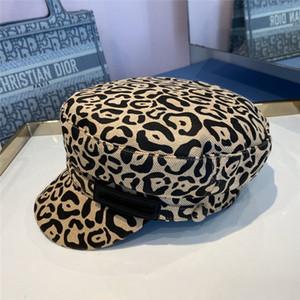Chapeau léopard Femmes Femmes Cap Newswrkboy Hats Automne Hiver Dames Casquettes Twill Cotton Coton Chapeau Dernier accessoire Avant-Garde