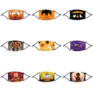 Crianças Halloween Straw Máscaras Designer Rosto Halloween palha máscara nariz Máscaras Proteção Cotton Halloween palha Resuable lavável Fashio # 536
