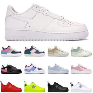 Nike Air Force 1 sapatos de sombra Pálido Marfim triplo branco preto Spruce Aura Phantom Pólo Rise Mystic Navy tênis de moda masculina 36-45