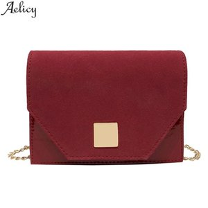 Aelicy Women Messenger Bags With Temperament Handbag Pu Leather Solid Small Capacity Mobile Phone Bags Female Solid Bag New