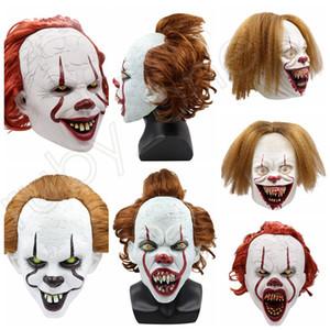 5styles Halloween Máscara de Silicone filme Stephen King It 2 Joker Pennywise máscara facial Horror Clown Cosplay Prop Partido Máscaras RRA3628