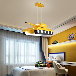 Modern Led Pendant Lights For Children room Deco Hanging Pendant Lamp Tank Design Yellow Green Lustres Inddor Lighting Fixtures