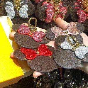 Les bijoux des femmes porte-clés strass Tassel Sac Ornement Pendentif cadeau de Noël porte-clés Fille initiale Porte-clés