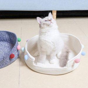 All Seasons Available Handmade Cotton Cat Bed For Kitten Deep Sleep Cat Board Pet House