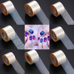 50pcs 120m roll Laser Clear Nail Transfer Foils Holographic Glass Dot Stars Foils Paper Nail Sticker Decals Manicure Decoration