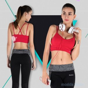 10pcs Explosion European and American fitness sports bra thin belt shockproof cross beautiful back running yoga underwear vMqP#