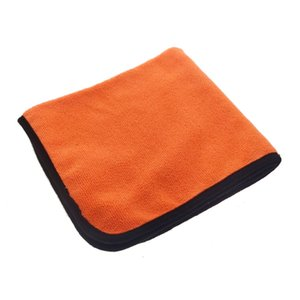 40x40cm Orange super soft microfiber towel for cleaning products