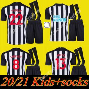 дети Kit 20 21 NUFC трикотажных изделий футбола Шелви Главные прочь третья новая 2020 2021 Джоэлинтон Almiron RITCHIE Гейл трико Футбольной рубашки