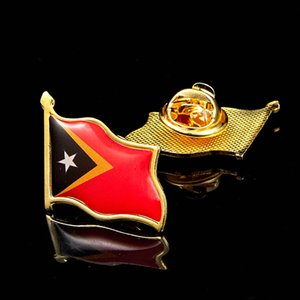 50pcs Timor-Leste Country National Flag Pins All Over The World Badge Emblem Country State Pin Brooch