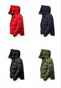 2020 novo inverno de Down Parkas Hoody Bomber Jackets Zippers Marcas Designers Homens jaqueta dos homens Brasão Outdoor Quente preto Parka verde online