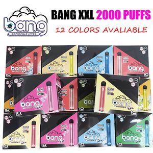 El más reciente de dispositivos de Bang XXL XXTRA desechable Vape Pen 2000 soplos 800mAh batería precargada 6 ml vainas de cartuchos de vapor e cigs portátil vaporizador