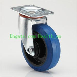 Промышленное эластичное синий резиновый заклинатель колесо, заклинатель среднегрузный для тележки, Европа Spec