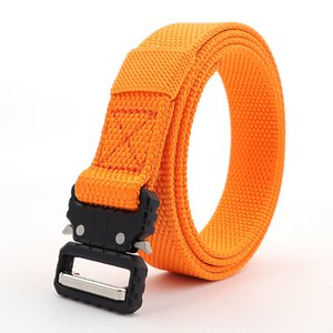 Outdoor Canvas Leather Belt Casual Men's 2.5cm Wide Eye Snake Imitation Nylon Quick Release Slender Belt