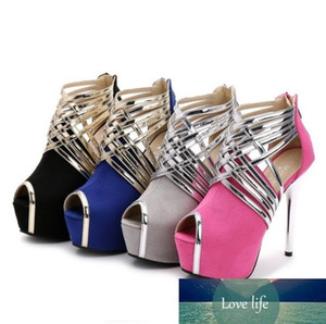 Big size 42 43 44 fashion luxury designer women shoes heels red bottom mixed color strappy platform pumps nightclub party dress shoes