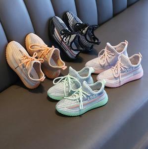 2020 Primavera Meninos Meninas Moda Sapatilhas Bebê / Criança / Crianças Crianças Treinadores de Couro Crianças Sapatos Esporte Sapatos Soft Sapatos CL200920