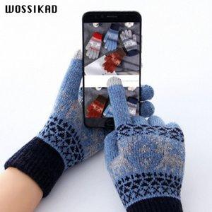 Gants Femmes Touch Gants d'hiver d'écran de Noël Knitting Driving Handschoenen Luvas De Inverno Guantes Modis