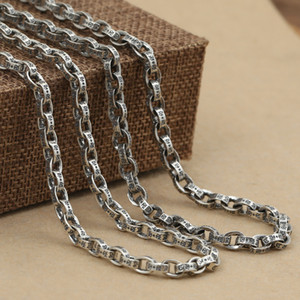 Vintage 925 sterling silver handmade jewelry American European antique silver link chain designer necklaces for men women free shipping