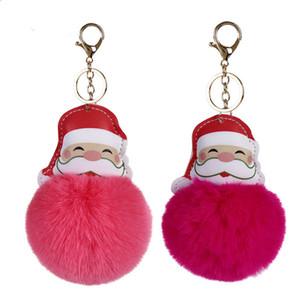 Cute Ball Pom Pom Keychain Car Bag Keychain Key Ring Pendant Jewelry Christmas Stocking Stuffer for Women