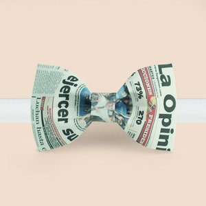 free shipping casual male MEN'S female New Original fashion party bow groom dress bow tie pot newspaper PRINTED