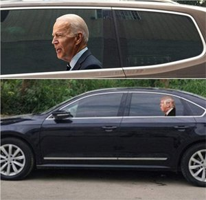 Election Trump Decals Car Stickers Biden Funny Left Right Window Peel Off Waterproof PVC Car Window Decal Party Supplies 60pcs GWF1944
