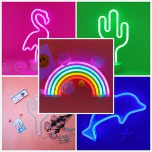 cgjxs 2019 Led Neon 2019 Night Light Flamingo Unicorn Сердце ангел лампа от батареи для дома Таблицы Свадьбы рождественских украшений